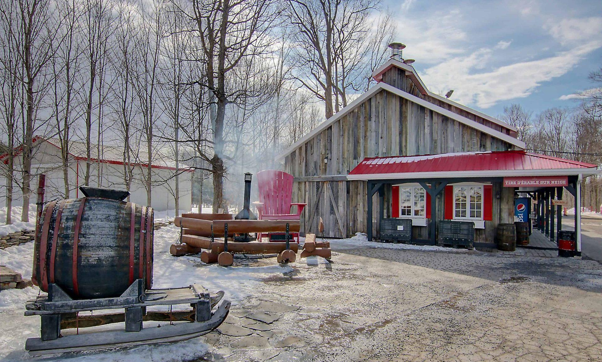 cabane à sucre constantin, extérieur