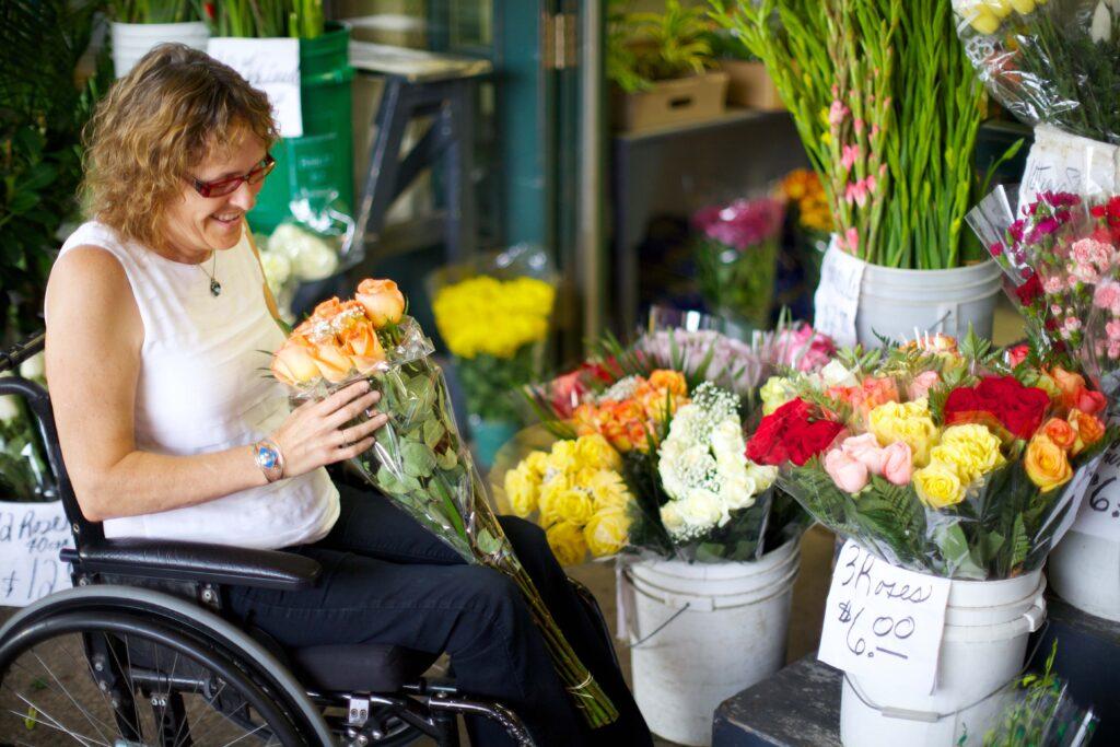 Boutique de fleurs, marché Atwater