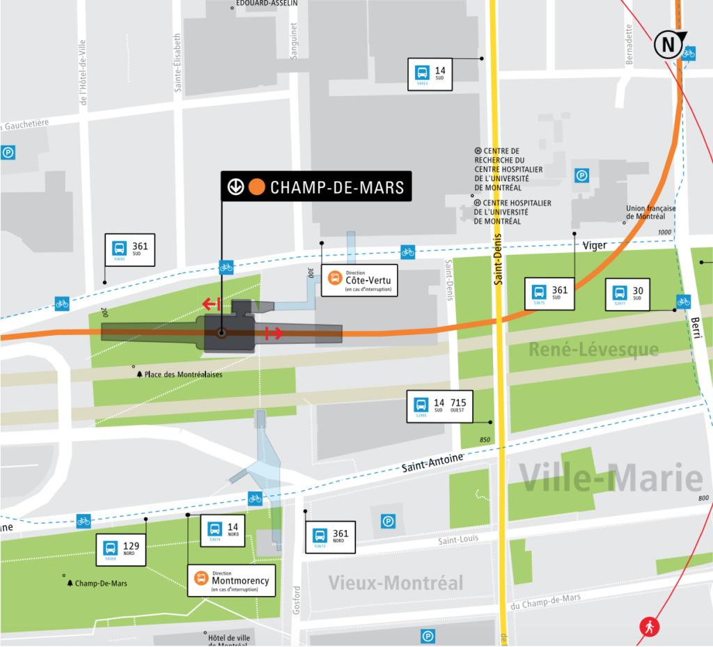Plan de l'édicule du métro Champs-de-mars