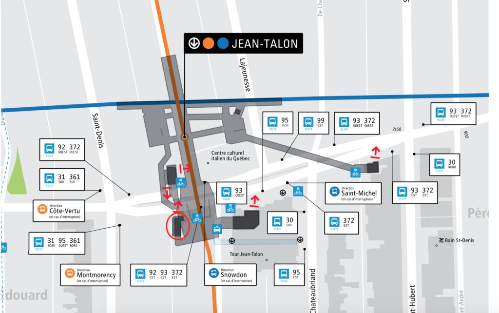 Plan de l'édicule accessible du métro
