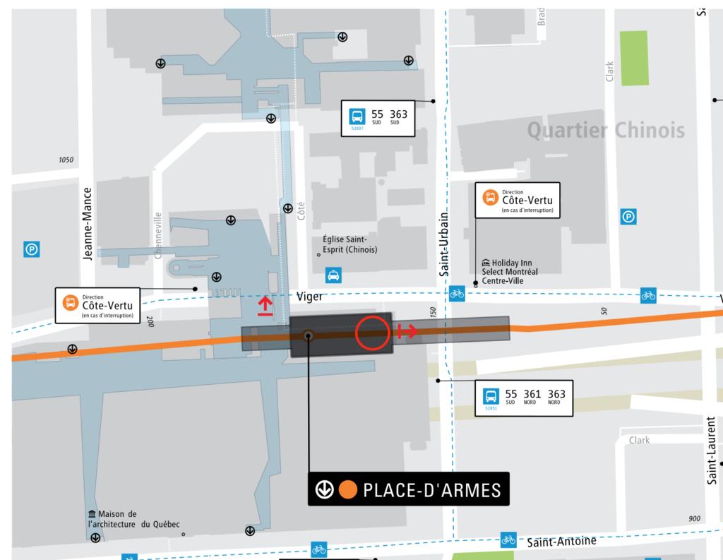Plan de l'édicule du métro