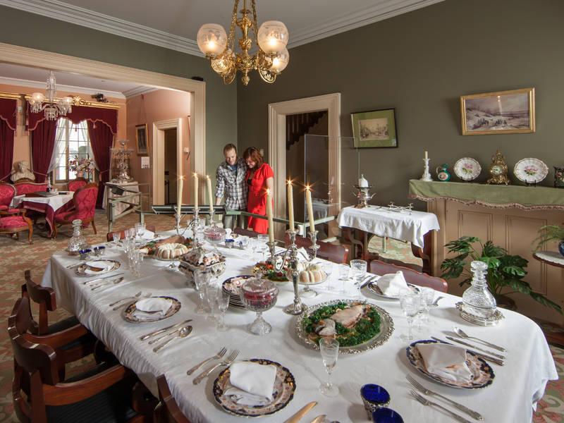 Salle à manger du site historique Sir-George-Étienne-Cartier